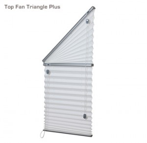 Verosol top fan triangle plus pleated blind
