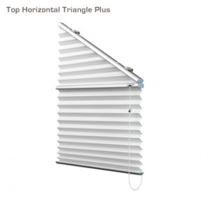 Verosol top horizontal triangle plus pleated blind