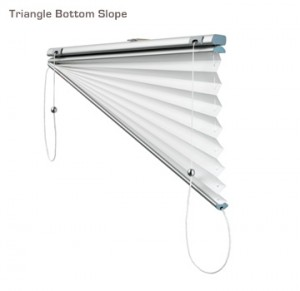 Verosol triangle bottom slope pleated blind