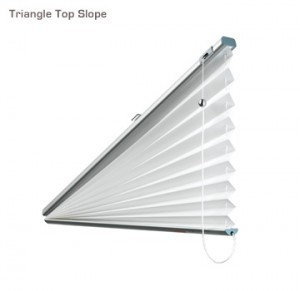 Verosol triangle top slope pleated blind
