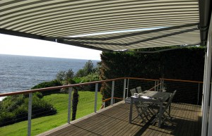 Markilux 5010 folding arm awning and Markilux 889 ZIP underglass conservatory awning (8)