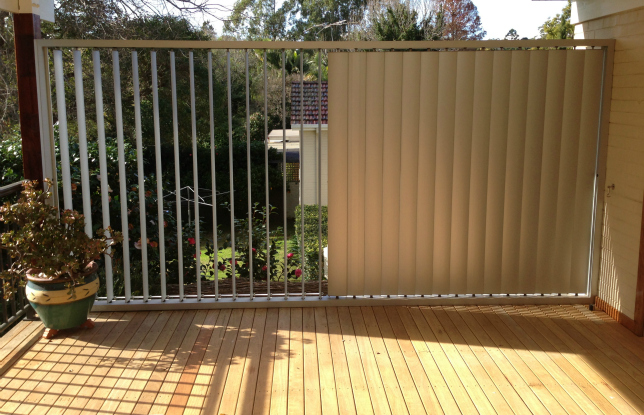 It S Privacy Plus With Maxim Vertical Louvre Fins From